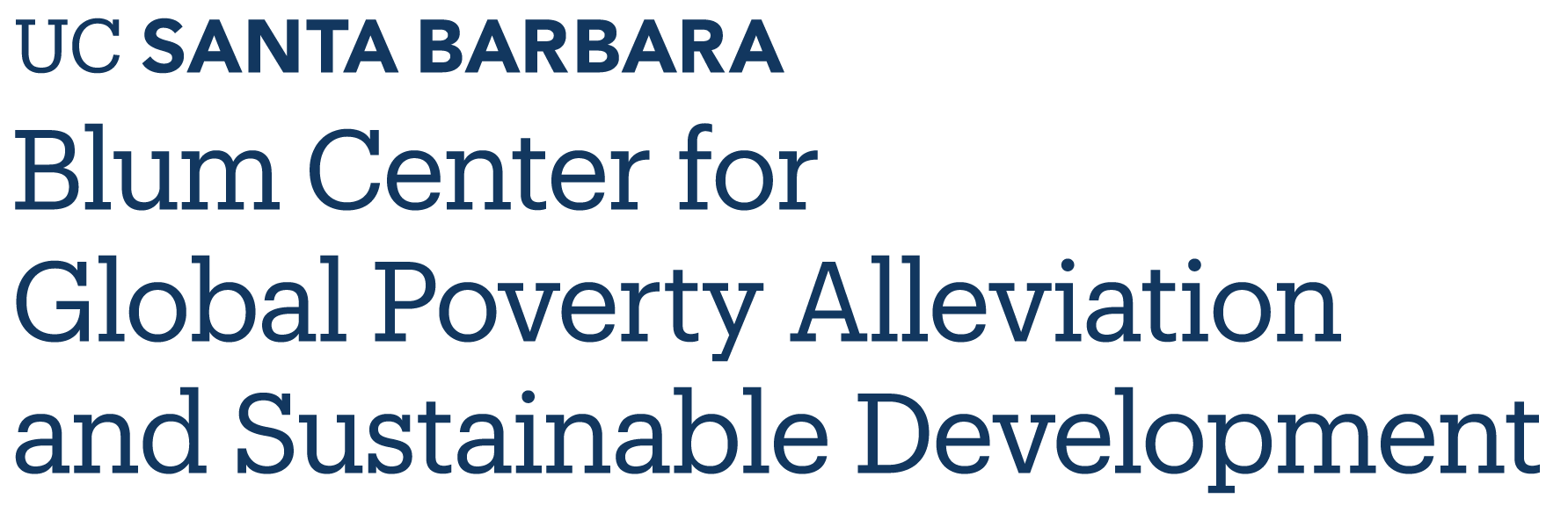 UCSB Blum Center for Global Poverty Alleviation and Sustainable Development - UC Santa Barbara